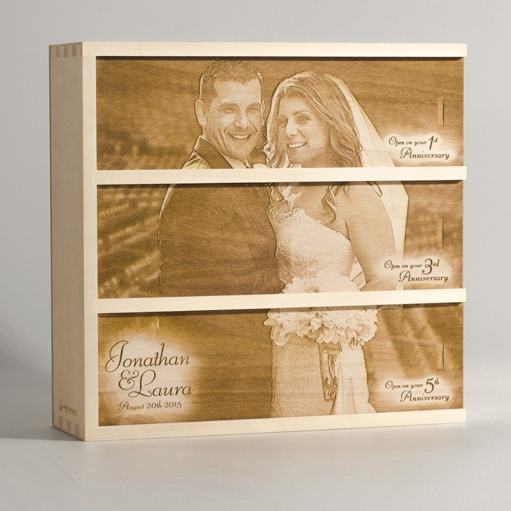 Photo Box - Wedding Wine Box - by WineforaWedding