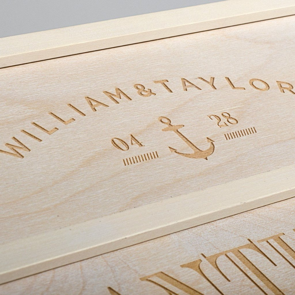 Anchors Aweigh Anniversary Wine Box - Detail 2
