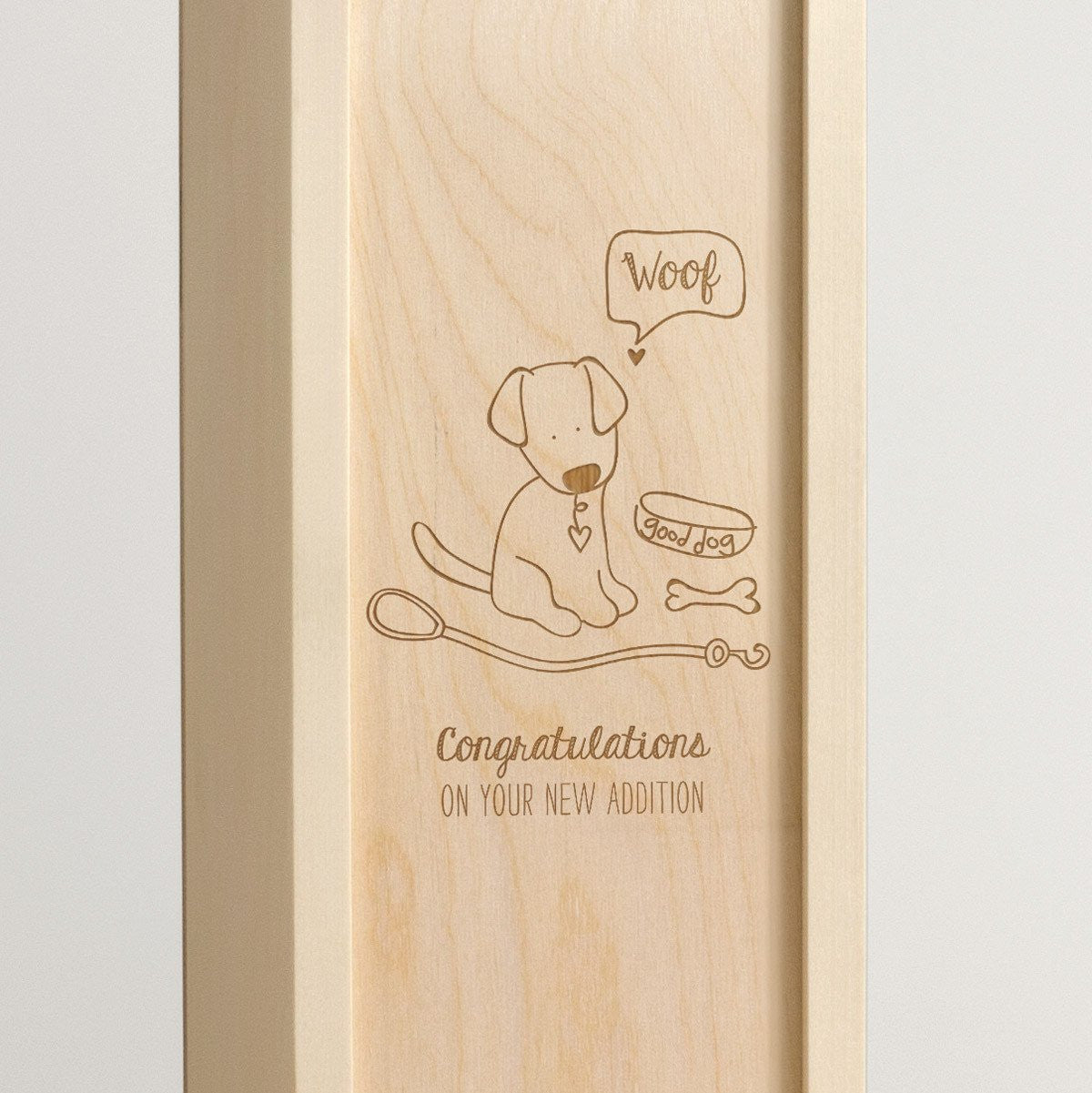 Doggie Congrats - Dog Lover Wine Box - Detail Image