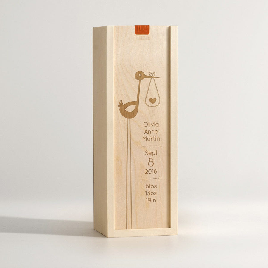 Stork - New Baby Wine Box - Main Image