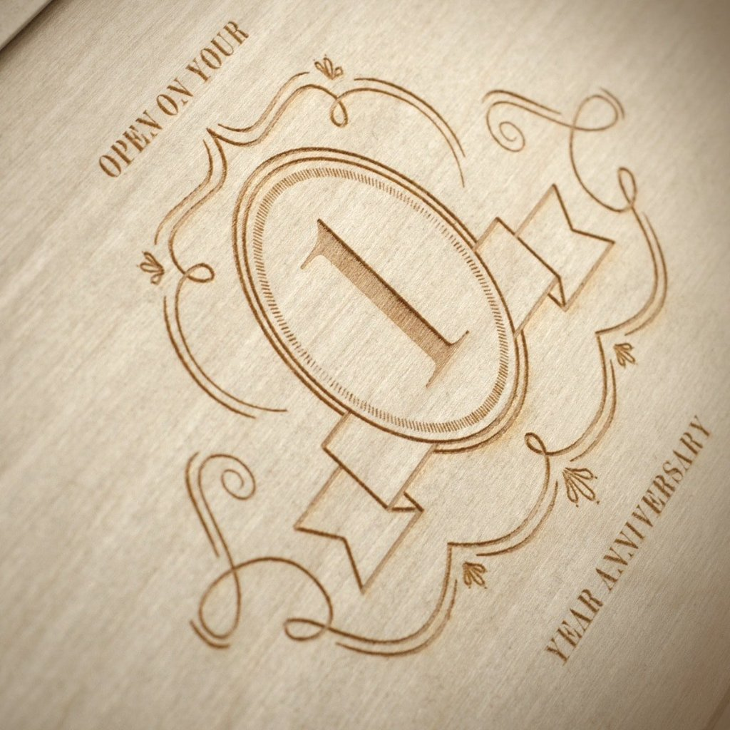 Charming Trio Wedding Wine Box - Detail Image 2