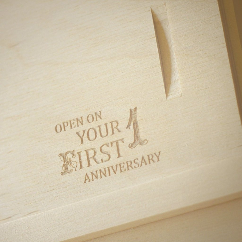 I Do Wedding Wine Box - Detail Image 3