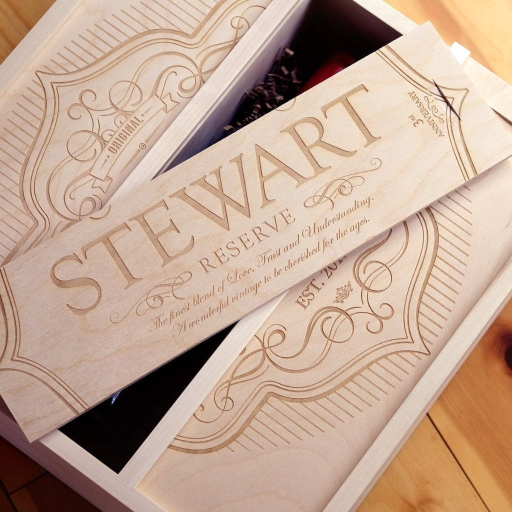 Label of Love Anniversary Wine Box - 3