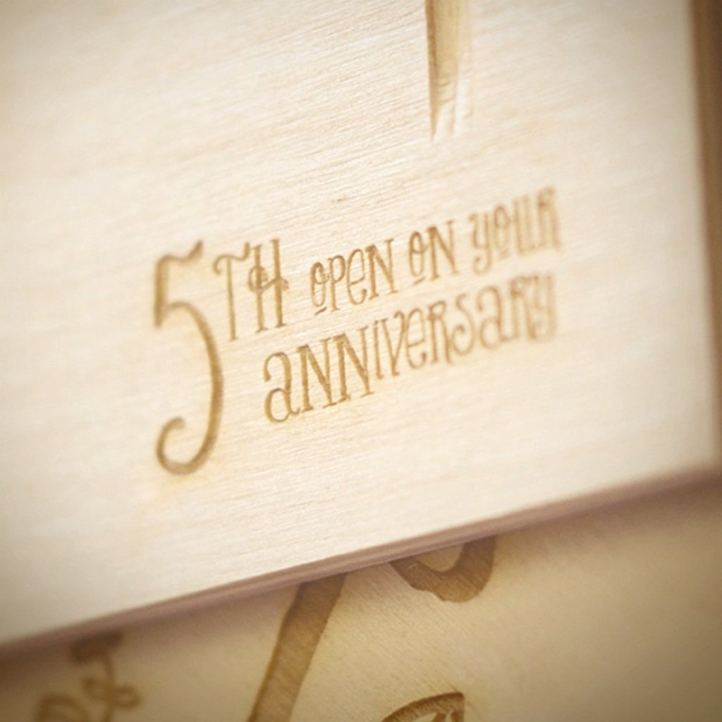 Live Laugh Love Anniversary Wine Box - Detail Image 3