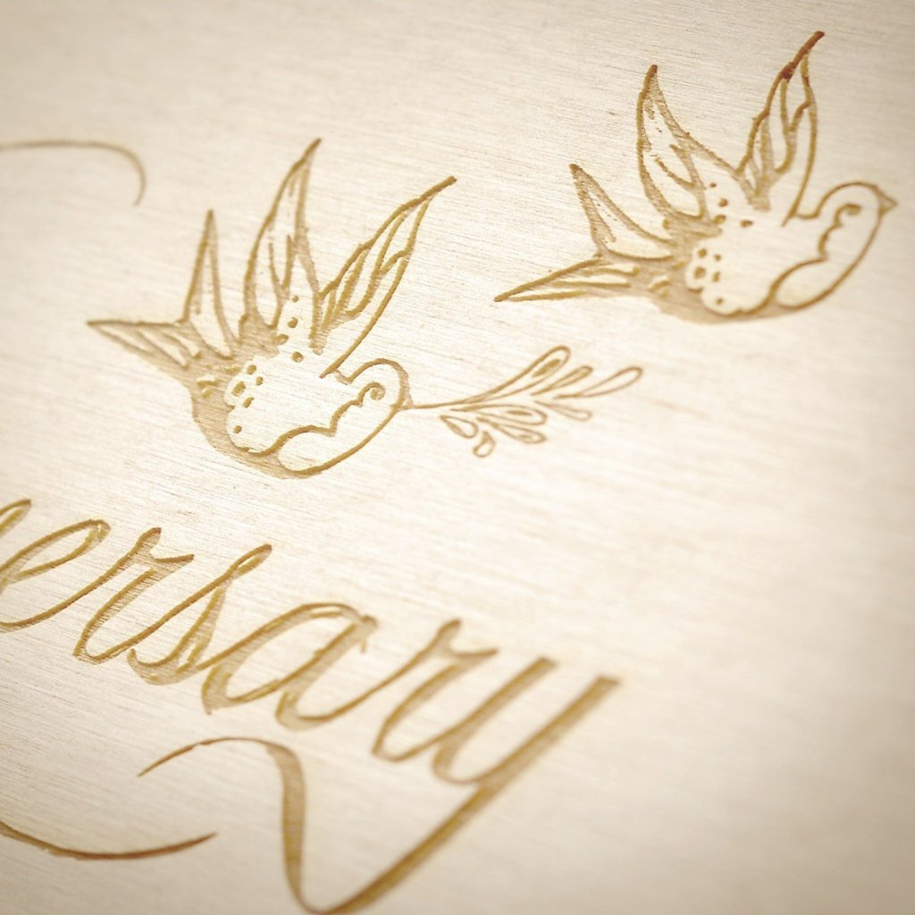 Love Birds Anniversary Wine Box - Detail Image 1