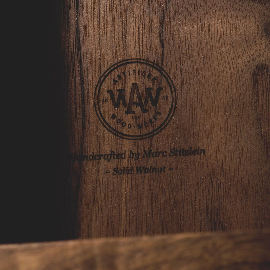 Walnut Trio - Inlaid Wine Box - Detail Image 5