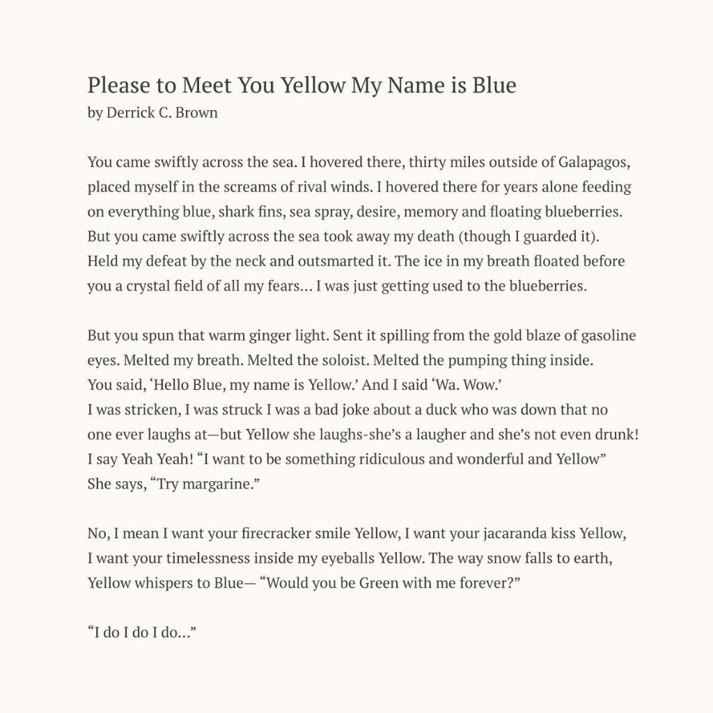 Yellow Meets Blue Anniversary Wine Box - Poem Simple Text