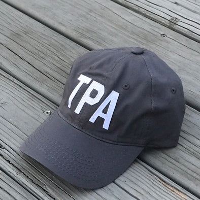 TPA - Tampa, FL Charcoal Grey Aviate Adjustable Baseball Hat