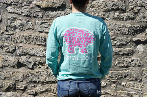 Pocketed Mint Paisley