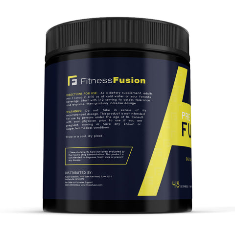 Pre Workout Powder Nutritional Supplement by Fitness Fusion | Boost Energy & Focus, Reduce Fatigue and Increase Endurance for Improved Workouts | Advanced Formula for Men and Women (45 Servings)