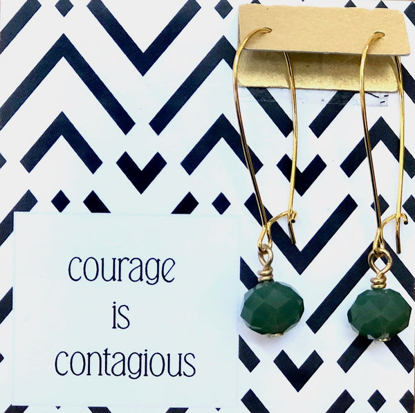 Courage Is Contagious - Emerald Crystals