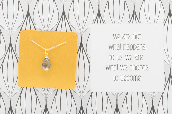We Are What We Choose To Become - Necklace A19