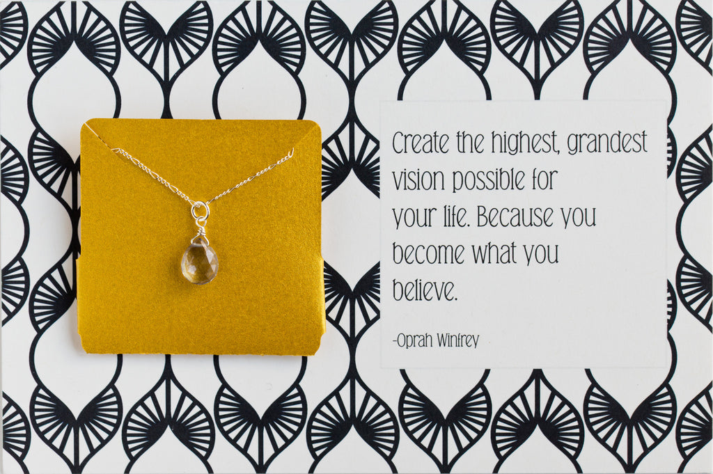 Create The Highest Grandest Vision- Necklace A44