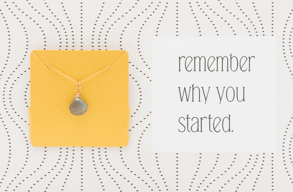 Remember Why You Started  - Necklace A30