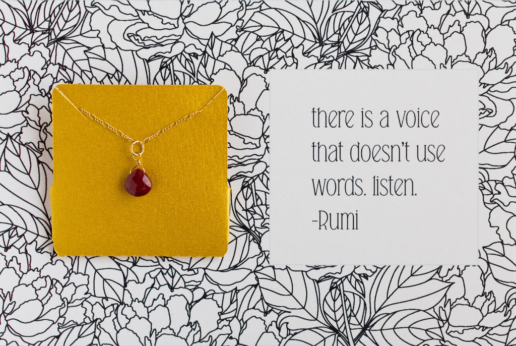 There is a voice that doesn't use words - Necklace A18