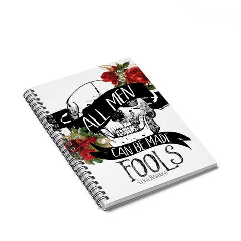 All Men Can Be Made Fools Notebook-Paper products-Blu Bear Bazaar