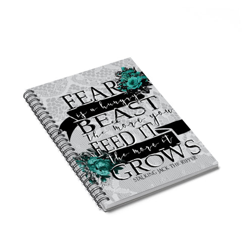 Fear Is A Hungry Beast Notebook-Paper products-Blu Bear Bazaar