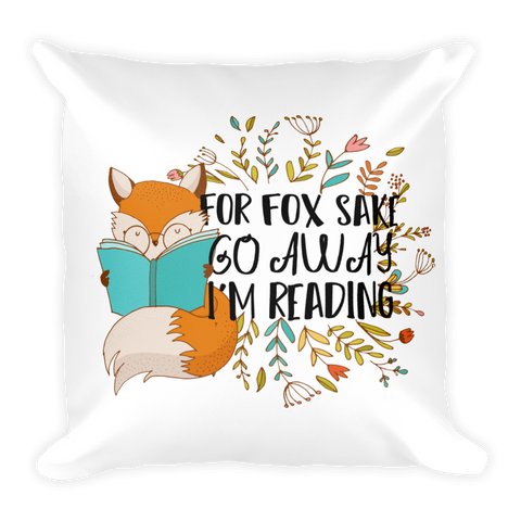 For Fox Sake Pillow-Pillow-Blu Bear Bazaar