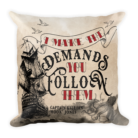 Captain Hook Makes The Demands Pillow-Pillow-Blu Bear Bazaar