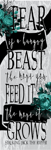 Fear is a Hungry Beast Bookmark-Bookmark-Blu Bear Bazaar