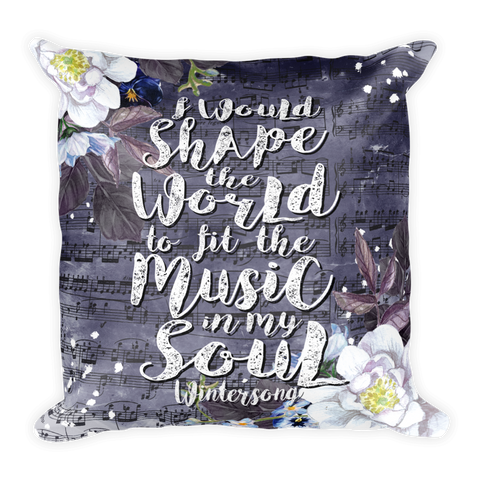 Music In My Soul Pillow-Pillow-Blu Bear Bazaar