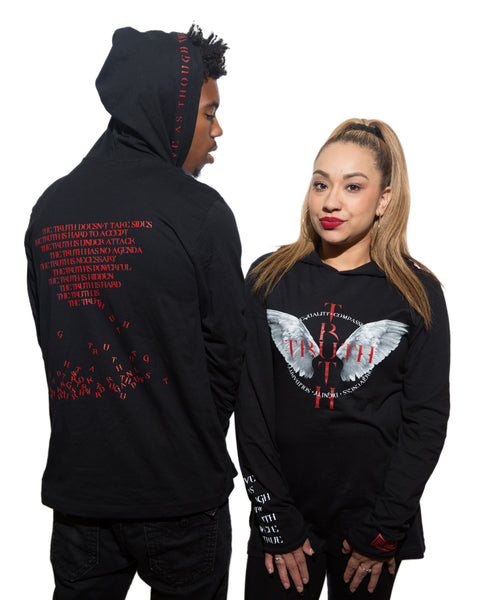 TRUTH Unisex Long Sleeve Jersey Hooded Tee