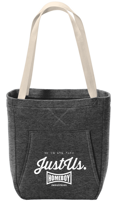 Fleece Sweatshirt Tote Just US logo