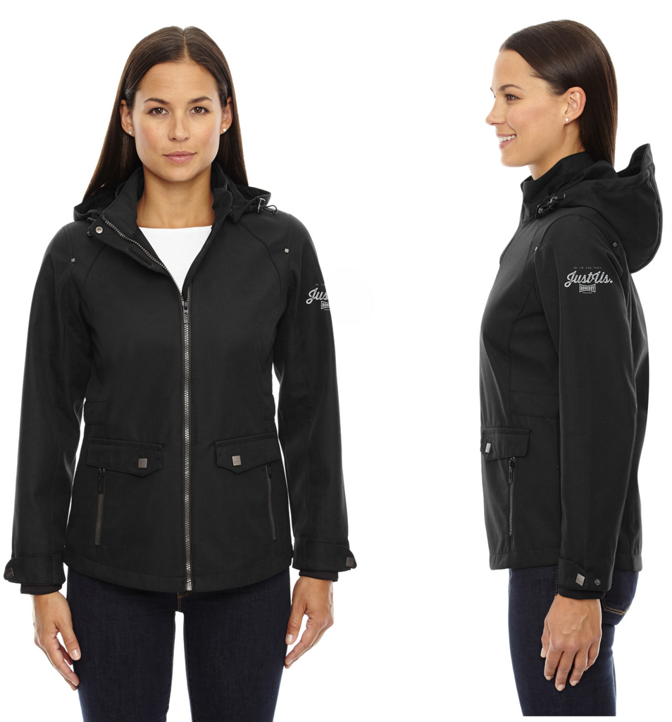 North End Ladies' Uptown Three-Layer Light Bonded City Textured Soft Shell Jacket
