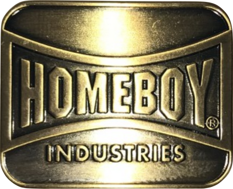 Homeboy Antique Brass lapel pin SMALL