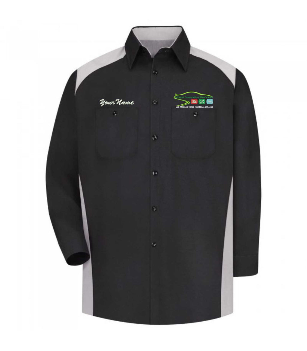 LATTC Automotive Shirt Long Sleeve with name embroidered