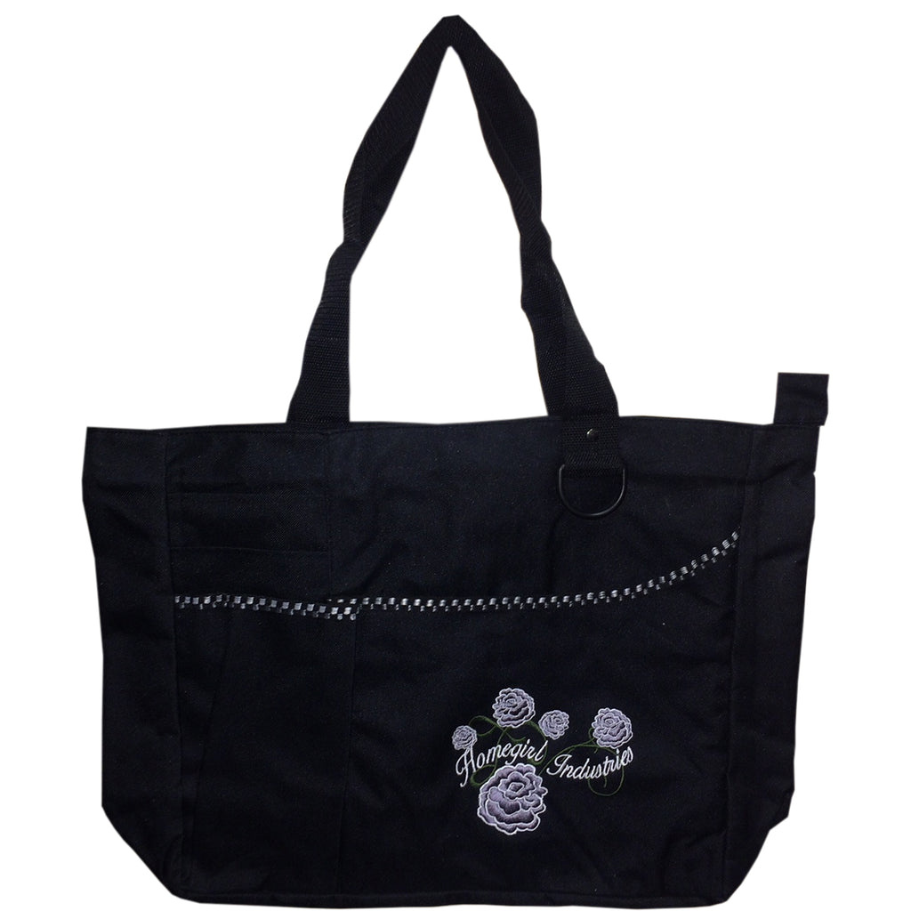 Zippered Tote Flower Design