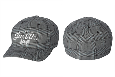 Flexfit - Glen Check Cap Hat Just Us Logo