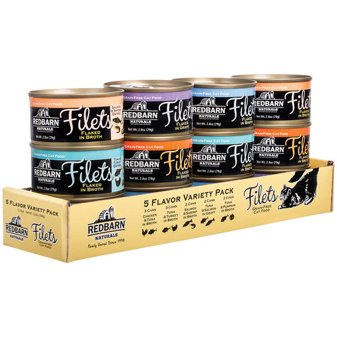 Redbarn Canned Cat Food Filet Variety Pack (2.8 oz Cans)