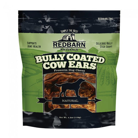 Redbarn Bully Coated Cow Ears Dog Chews
