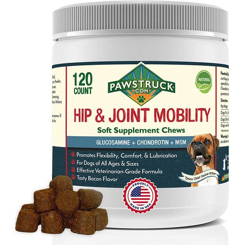 Pawstruck Glucosamine for Dogs Hip & Joint Supplement (120 Count)