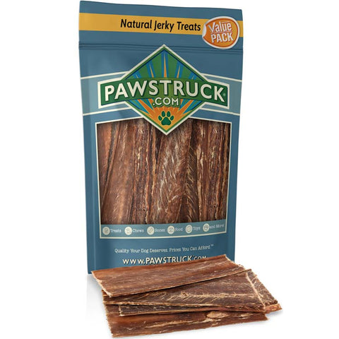 "Pawstruck Beef Jerky Value Pack (50 Count, 9""-10"" Strips)"