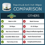 Pawstruck Anti-Itch Wipes for Dogs + Cats