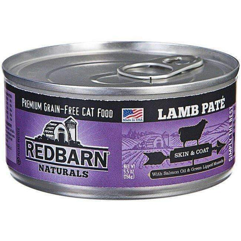 Redbarn Lamb Pate for Skin & Coat Canned Cat Food (5.5 oz)