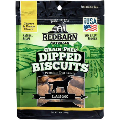Redbarn Large Grain-Free Cheese n' Bacon Dipped Dog Biscuits