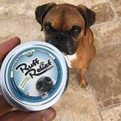 Tyson the Boxer waiting eagerly for his Ruff Relief Balm