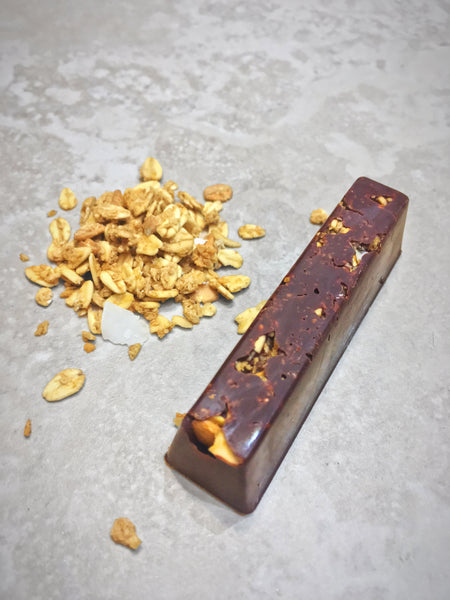 Raspberry and Roasted Coconut Chocolate Stick