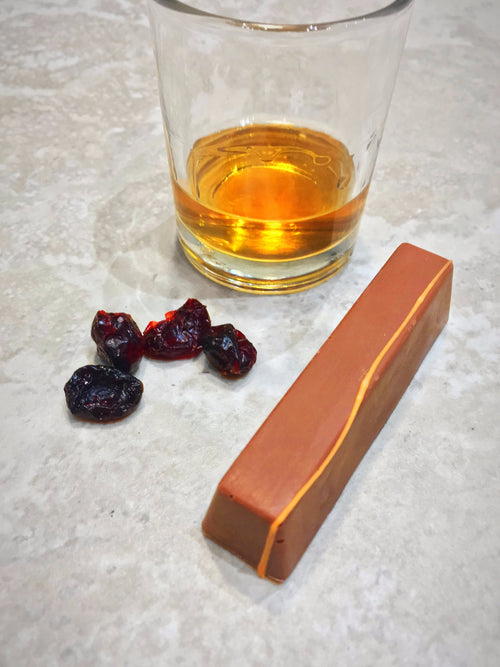Amaretto and Cranberry Filled Chocolate Stick