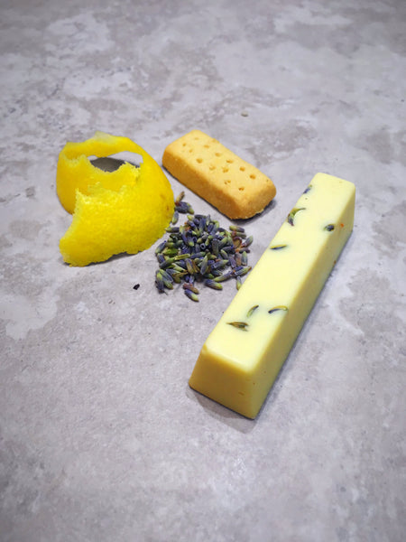 Lavender and Lemon Shortbread Chocolate Stick