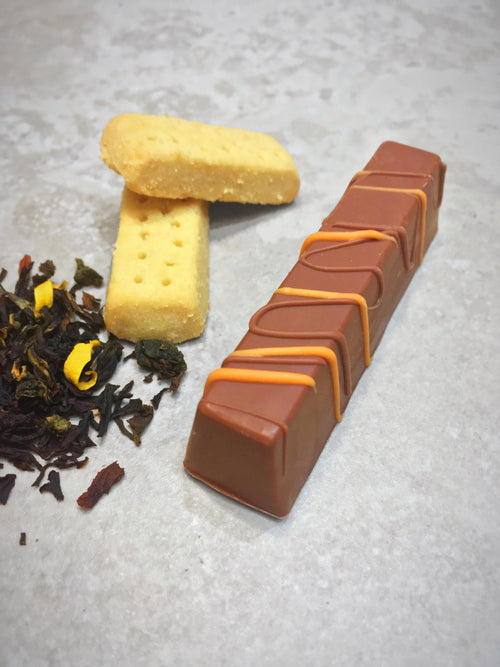 Orange Oolong and Shortbread Chocolate Stick