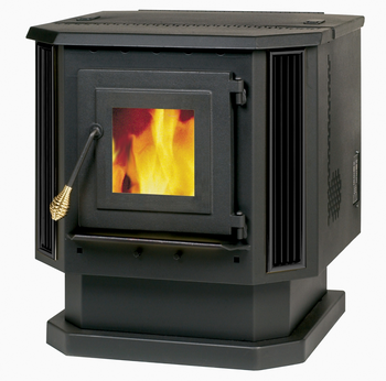 55-TRP22 - PELLET BURNING STOVE - 2,200 sq. ft. Factory refurbished