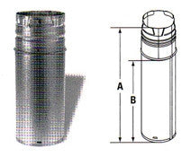 "DuraVent PelletVent 1' Adjustable Section of 3"" Pellet Pipe-Part Number: AC-3012A"