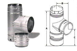 "DuraVent PelletVent Clean-Out Tee for 3"" Pellet-Part Number: AC-3067"