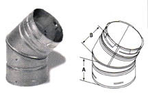 "DuraVent PelletVent 45 Degree Elbow for 3"" Pellet Pipe"
