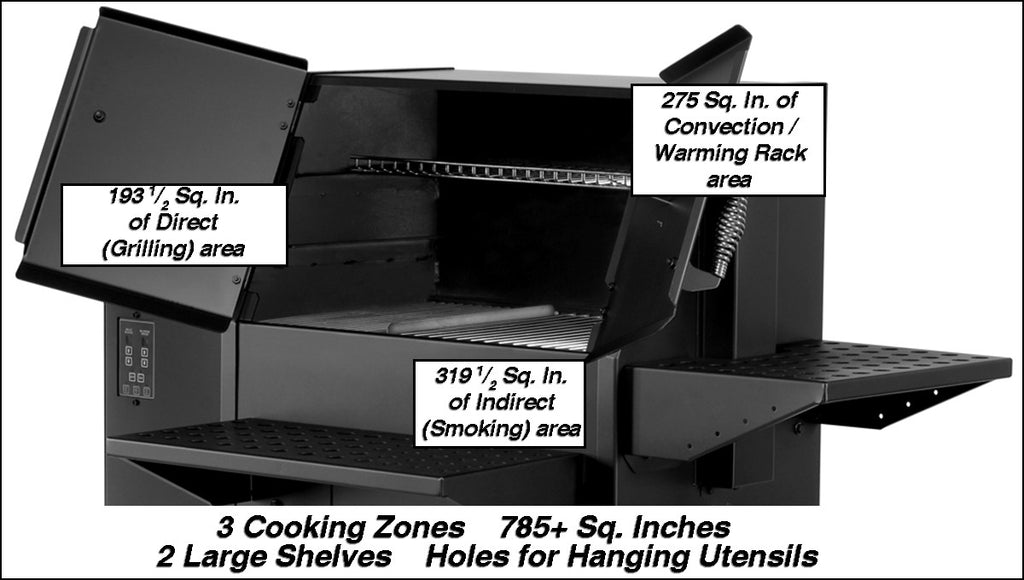 TIMBER RIDGE PELLET GRILL/SMOKER 51-PG100 (F2)