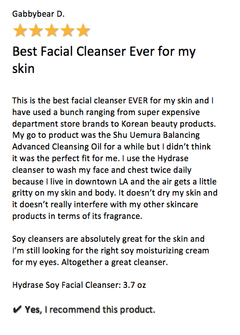 Hydrase Soy Facial Cleanser - Kare MD Skin Health